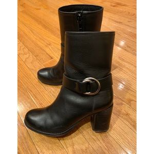 Frye Shoes - Frye Black Addie Harness Mid Boots